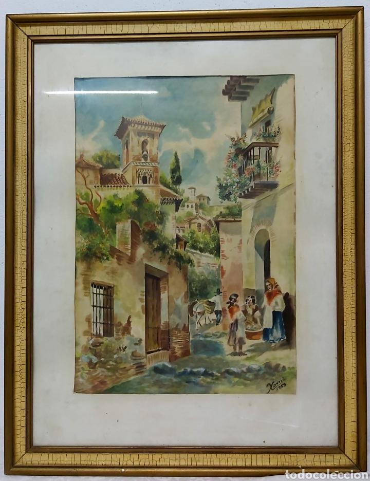 Arte: ACUARELA DE 1953 FIRMADA XARRIE - Foto 2 - 194167020
