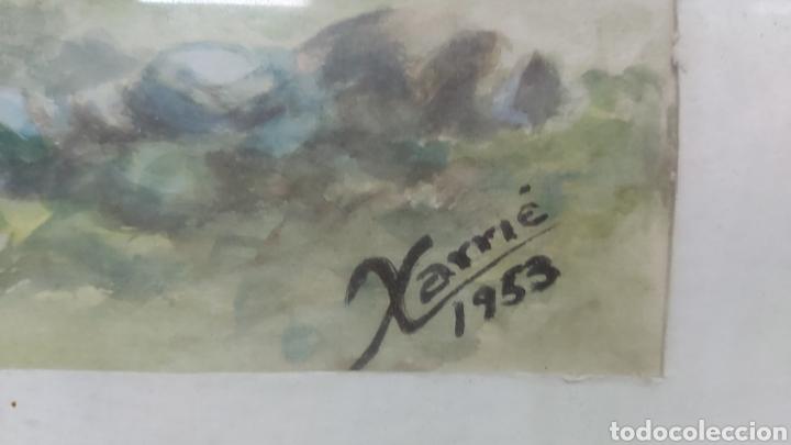 Arte: ACUARELA DE 1953 FIRMADA XARRIE - Foto 3 - 194167020