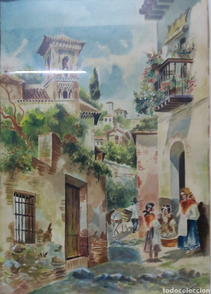 ACUARELA DE 1953 FIRMADA XARRIE (Arte - Acuarelas - Contemporáneas siglo XX)