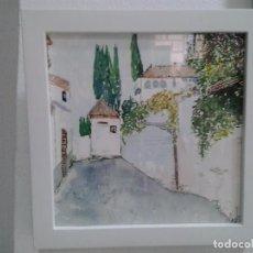 Arte: LMV - ACUARELA, CALLE, 16 X 16 CM. Lote 194188945
