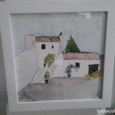 Arte: LMV - ACUARELA, CORTIJO, 16 X 16 CM. Lote 194189060