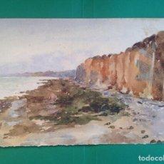 Arte: AUGUSTO COMAS. PAISAJE DE COSTA.. Lote 194214301