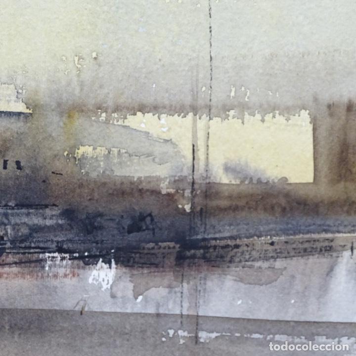 Arte: Gran acuarela de Josep Martínez lozano con dibujo detrás de excelente calidad.1983. - Foto 8 - 194248231