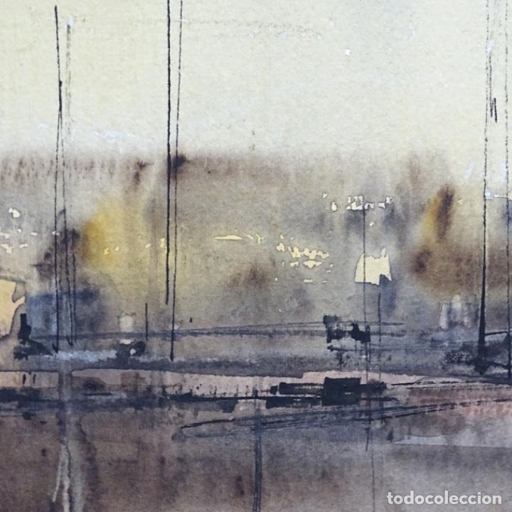 Arte: Gran acuarela de Josep Martínez lozano con dibujo detrás de excelente calidad.1983. - Foto 9 - 194248231
