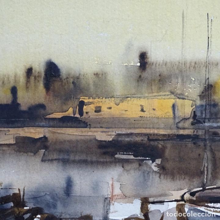 Arte: Gran acuarela de Josep Martínez lozano con dibujo detrás de excelente calidad.1983. - Foto 10 - 194248231