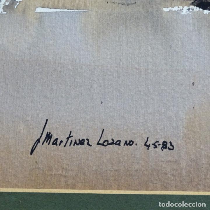 Arte: Gran acuarela de Josep Martínez lozano con dibujo detrás de excelente calidad.1983. - Foto 14 - 194248231