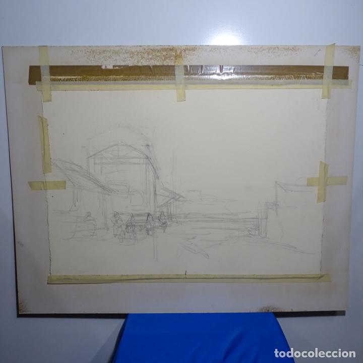Arte: Gran acuarela de Josep Martínez lozano con dibujo detrás de excelente calidad.1983. - Foto 15 - 194248231