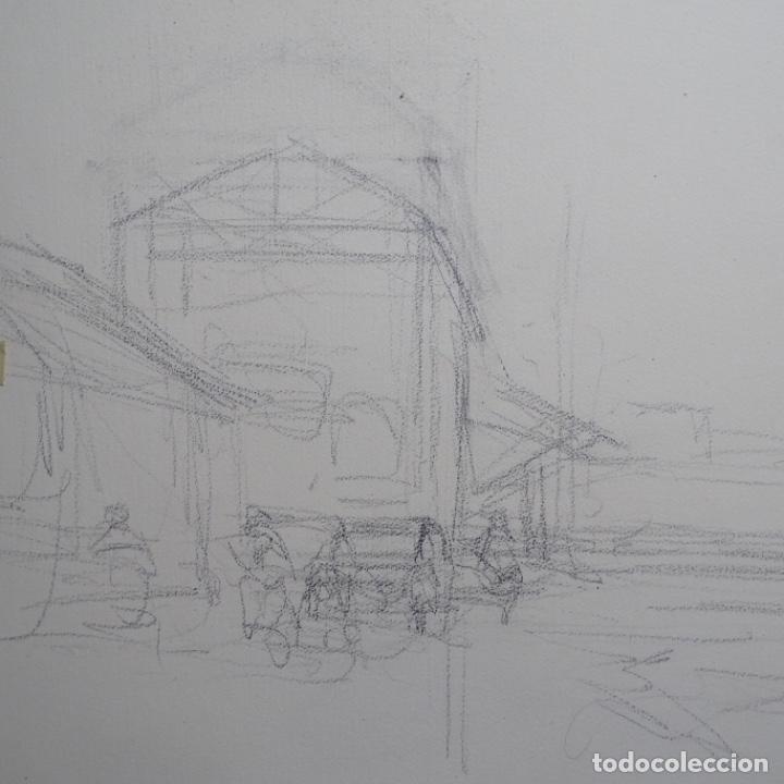 Arte: Gran acuarela de Josep Martínez lozano con dibujo detrás de excelente calidad.1983. - Foto 16 - 194248231