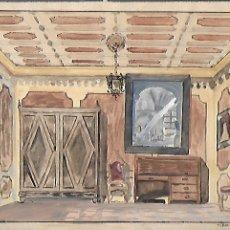 Arte: ACUARELA DE F. HURTADO SANCHIS ( TAVERNES BLANQUES, 1913 - MANRESA, 2001 ). 16X24 CM.. Lote 194271487