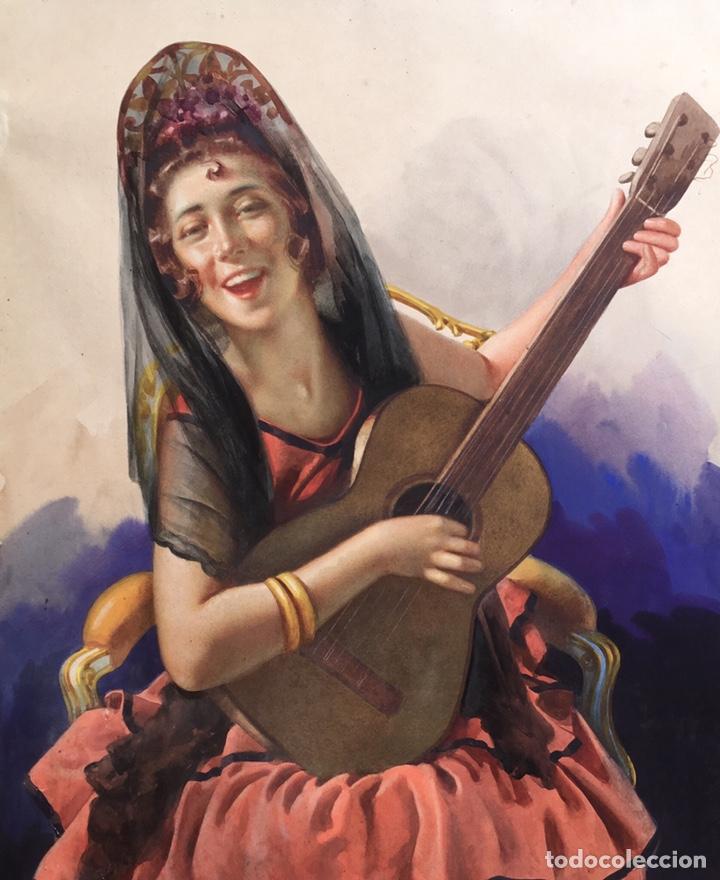 Arte: JULIO GARCÍA GUTIÉRREZ (París, 1882-Barcelona, 1966). Manola 50x49cm - Foto 5 - 194284641
