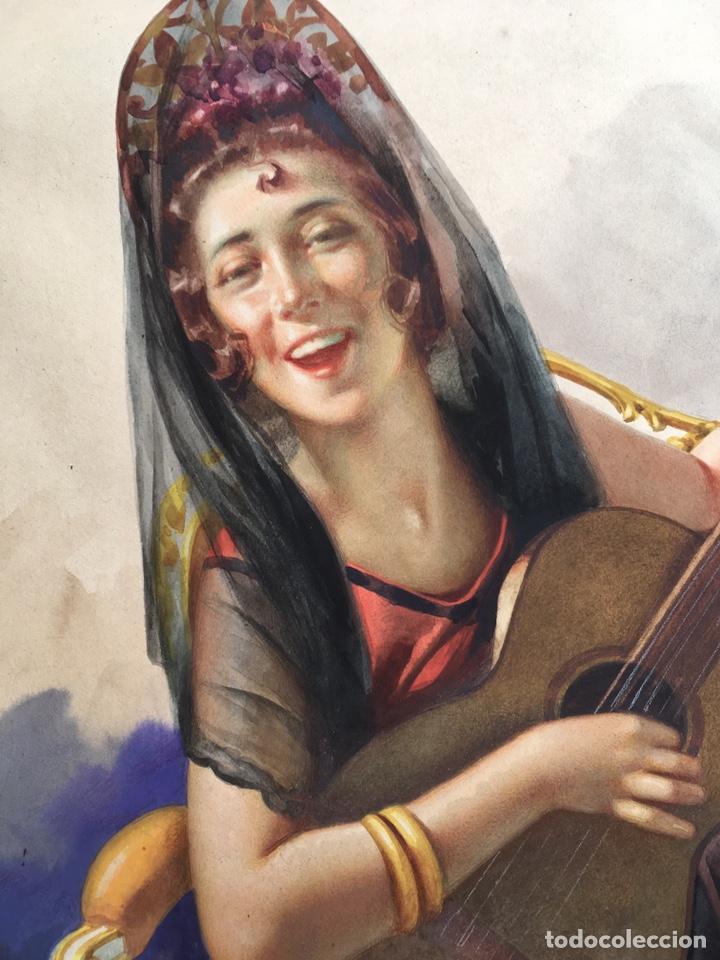 Arte: JULIO GARCÍA GUTIÉRREZ (París, 1882-Barcelona, 1966). Manola 50x49cm - Foto 6 - 194284641