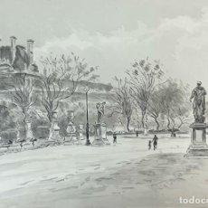 Arte: VISTA DE PARIS. ACUARELA SOBRE PAPEL. FIRMADO A. GUERIN. CIRCA 1940. . Lote 194294972