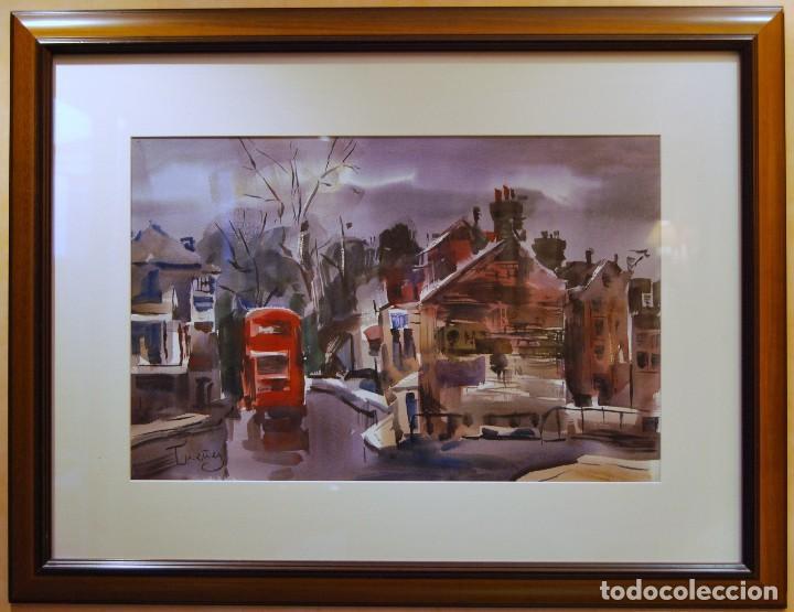 JOSEP CRUAÑAS I FAGES MAYÁ DE MONCAL 1942 ACUARELA TITULO: RICHMOND UK (Arte - Acuarelas - Contemporáneas siglo XX)