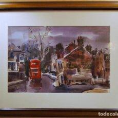 Arte: JOSEP CRUAÑAS I FAGES MAYÁ DE MONCAL 1942 ACUARELA TITULO: RICHMOND UK. Lote 194504621
