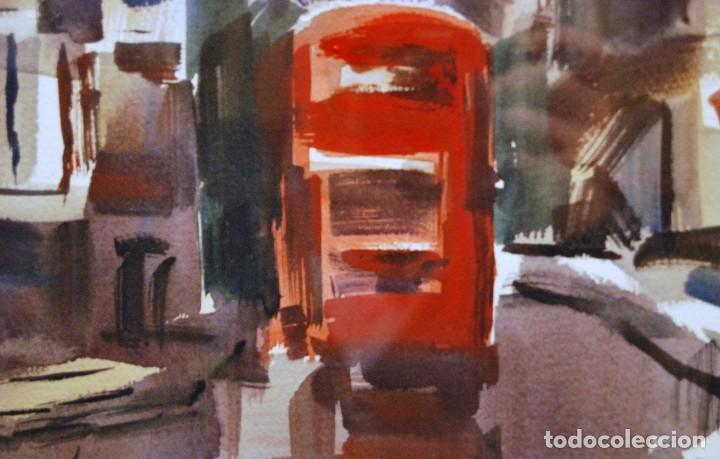 Arte: Josep Cruañas i Fages Mayá de Moncal 1942 Acuarela Titulo: Richmond UK - Foto 3 - 194504621