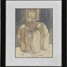 Arte: GUASCH ORIGINAL - FRAILES- DE MANUEL FERNÁNDEZ LUQUE (ÉCIJA 1919 - VALENCIA 2005). Lote 194519428