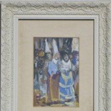 Arte: GUASCH ORIGINAL - PROCESIÓN- DE MANUEL FERNÁNDEZ LUQUE (ÉCIJA 1919 - VALENCIA 2005). Lote 194520416
