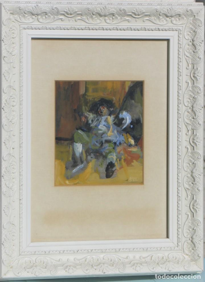 GUASCH ORIGINAL -TORERO - DE MANUEL FERNÁNDEZ LUQUE (ÉCIJA 1919 - VALENCIA 2005) (Arte - Acuarelas - Contemporáneas siglo XX)