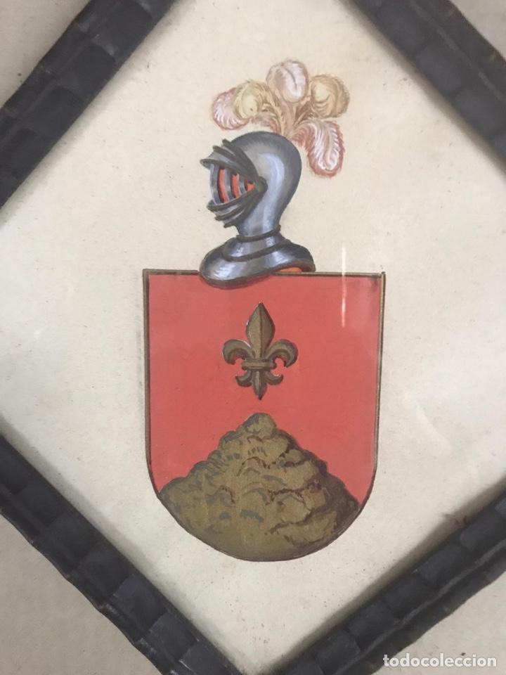 Arte: Reino de Valencia. Acuarela con armas del apellido Claramunt - Foto 2 - 194612367