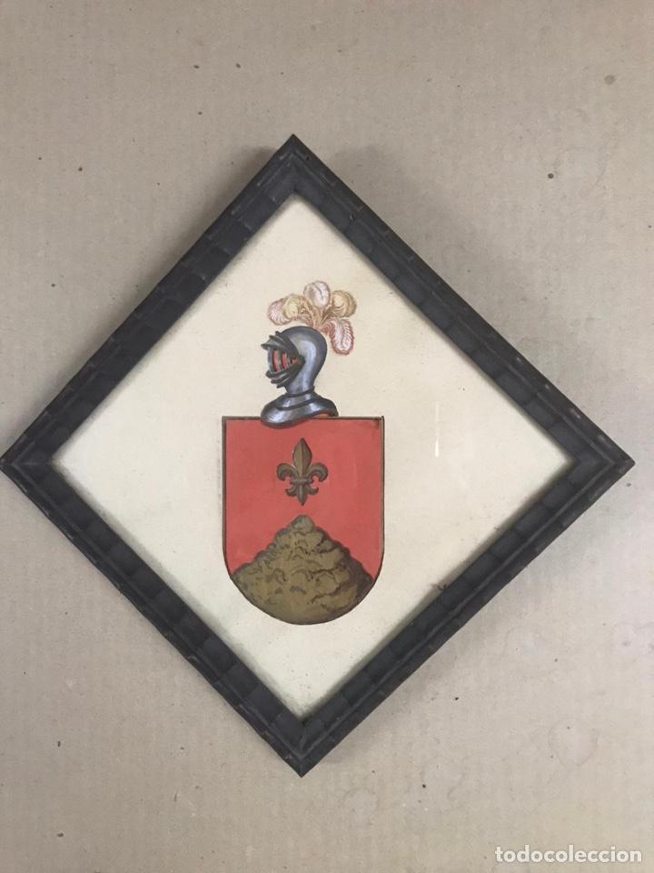 REINO DE VALENCIA. ACUARELA CON ARMAS DEL APELLIDO CLARAMUNT (Arte - Acuarelas - Modernas siglo XIX)