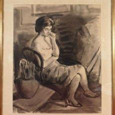Arte: RETRATO DE MUJER. ACUARELA SOBRE PAPEL. FIRMADO LL. MORATÓ. SIGLO XX.. Lote 194669670