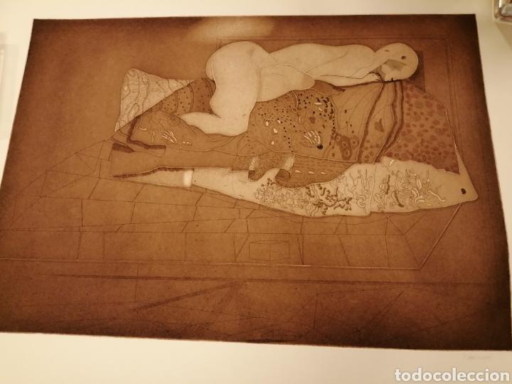 AGUAFUERTE DE JORGE CASTILLO. 1975 (Arte - Acuarelas - Contemporáneas siglo XX)