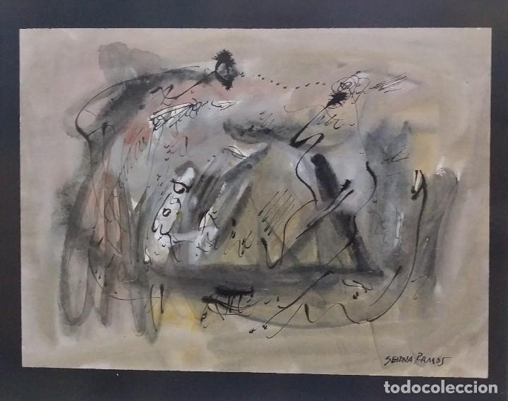 SERNA RAMOS (Arte - Acuarelas - Contemporáneas siglo XX)