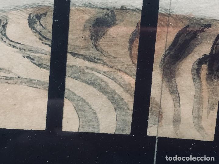 Arte: ANTIGUA ACUARELA DIBUJO CHINA AGUADA TINTA TIGRE ENJAULADO S XIX 61X51 - Foto 11 - 194750191