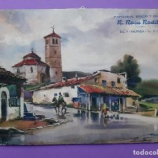 Arte: LAMINA DEL ACUARELISTA FRESQUET PAISAJE RURAL . Lote 194757213