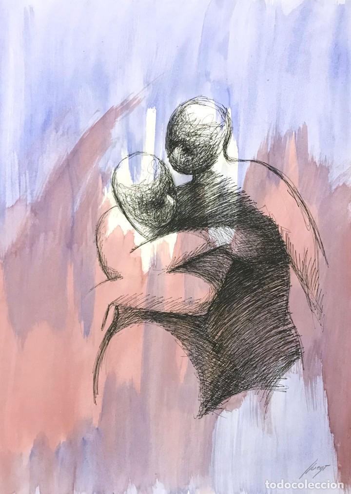 ARMAND LLUENT (1943-2004) (Arte - Acuarelas - Contemporáneas siglo XX)