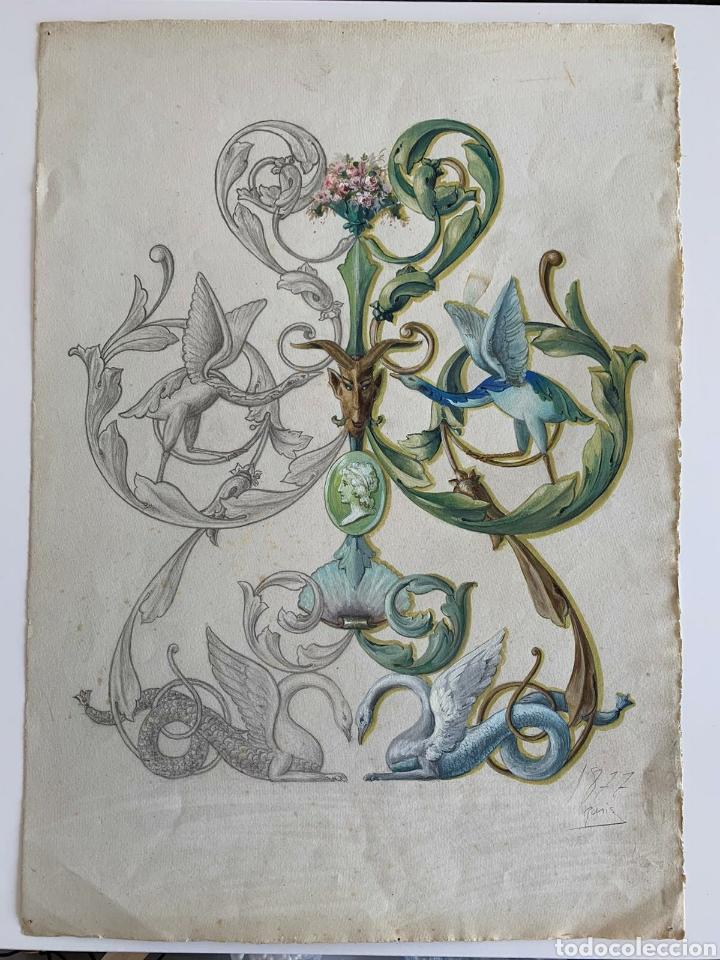 ESCUELA FRANCESA SIGLO XIX (Arte - Acuarelas - Modernas siglo XIX)
