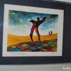 Arte: ACUARELA SOBRE PAPEL - JESÚS GUTIERREZ - DENTÍCULO DEL CAMPO - GRUPO CEBRA - BRUSELAS - AÑOS 80. Lote 194929481