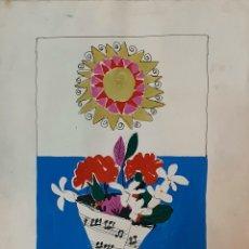 Arte: MORENO ORTEGA (MÁLAGA 1931), PRECIOSO BOCETO PARA CARTEL AÑOS 60, FIRMADO MORENNO.. Lote 194960607