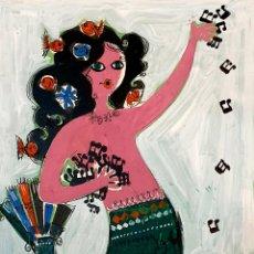 Arte: MORENO ORTEGA (MÁLAGA 1931), PRECIOSO BOCETO PARA CARTEL VINTAGE.. Lote 194965617
