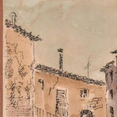 Arte: ACUARELA DE FERNÁNDEZ JOSEFÂ (BARCELONA). Lote 194966635