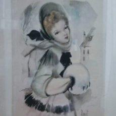 Art: FLORIT RODERO. ACUARELA Y LÁPIZ, FIRMADA. TÍTULO INVIERNO.. Lote 195145232