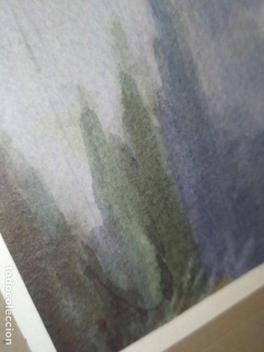Arte: LOTE DOS ACUARELAS? FIRMADAS M V ANTIGUAS ENMARCADAS CRISTAL PRECIOSAS - Foto 4 - 195152178