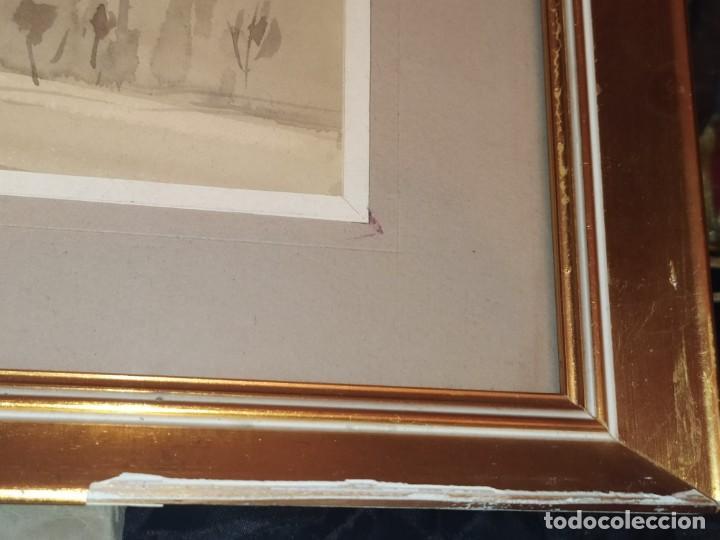 Arte: LOTE DOS ACUARELAS? FIRMADAS M V ANTIGUAS ENMARCADAS CRISTAL PRECIOSAS - Foto 7 - 195152178