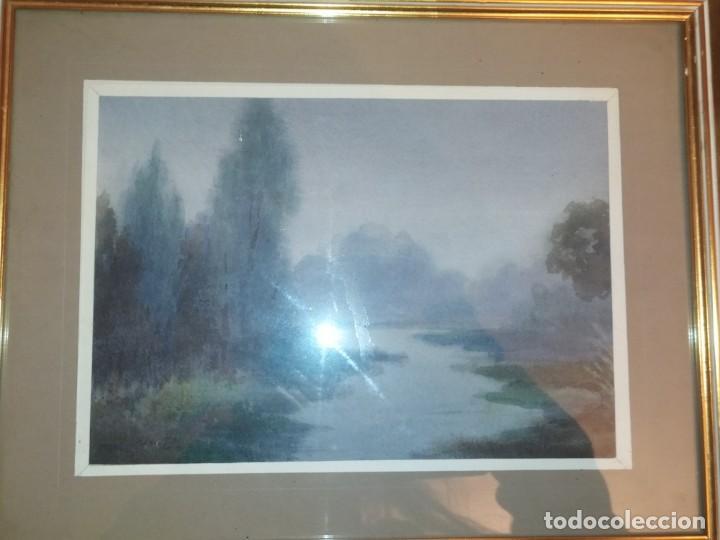 Arte: LOTE DOS ACUARELAS? FIRMADAS M V ANTIGUAS ENMARCADAS CRISTAL PRECIOSAS - Foto 10 - 195152178