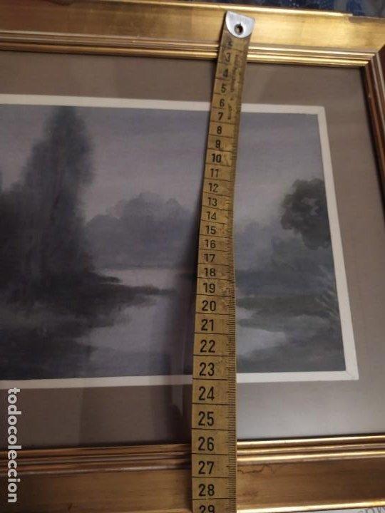 Arte: LOTE DOS ACUARELAS? FIRMADAS M V ANTIGUAS ENMARCADAS CRISTAL PRECIOSAS - Foto 13 - 195152178