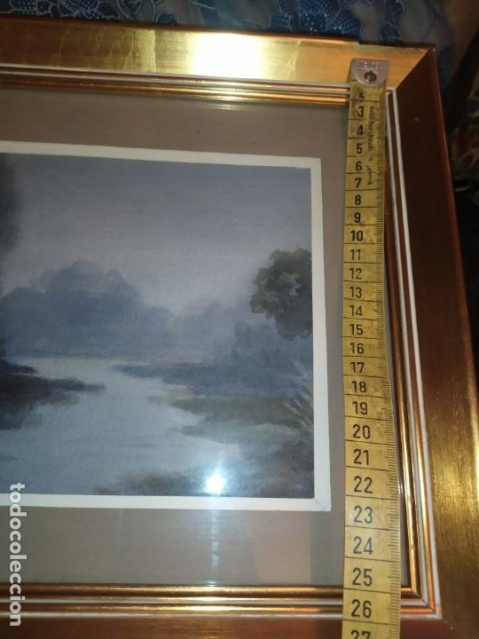 Arte: LOTE DOS ACUARELAS? FIRMADAS M V ANTIGUAS ENMARCADAS CRISTAL PRECIOSAS - Foto 19 - 195152178