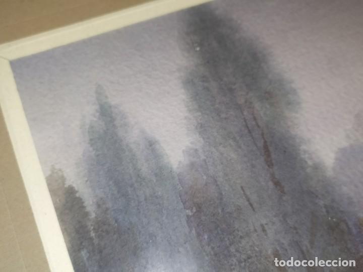 Arte: LOTE DOS ACUARELAS? FIRMADAS M V ANTIGUAS ENMARCADAS CRISTAL PRECIOSAS - Foto 21 - 195152178
