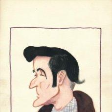 Arte: CARICATURA A LA ACUARELA FIRMADA BELLIDO GENTE DE TEATRO. AÑOS 1940.. Lote 195165765