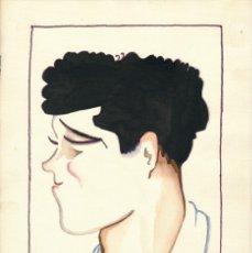 Arte: CARICATURA A LA ACUARELA FIRMADA BELLIDO GENTE DE TEATRO. AÑOS 1940.. Lote 195165780