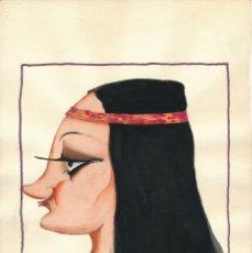 Arte: CARICATURA A LA ACUARELA FIRMADA BELLIDO GENTE DE TEATRO. AÑOS 1940.. Lote 195165931