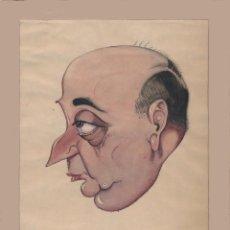 Arte: CARICATURA A LA ACUARELA FIRMADA BEYI, GENTE DE TEATRO APROX. 1940.. Lote 195171272