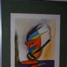 Arte: ACUARELA SOBRE PAPEL - JESÚS GUTIERREZ - INTOXICACIÓN - GRUPO CEBRA - BRUSELAS - AÑOS 80. Lote 195260383
