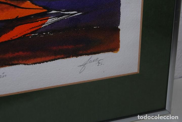 Arte: ACUARELA SOBRE PAPEL - JESÚS GUTIERREZ - INTOXICACIÓN - GRUPO CEBRA - BRUSELAS - AÑOS 80 - Foto 6 - 195260383