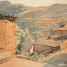 Arte: TOMAS VIVER AYMERICH (TERRASSA, 1876 - 1951) ACUARELA PAPEL DEL AÑO 1937. PAISAJE. Lote 195280397