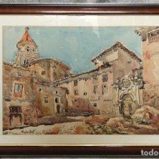 Arte: ACUARELA FIRMADA. Lote 195289847